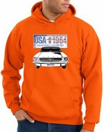 Ford Mustang Hoodie USA 1964 Country Orange Hoody