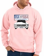 Ford Mustang Hoodie USA 1964 Country Pink Hoody