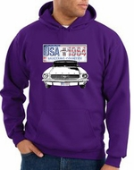 Ford Mustang Hoodie USA 1964 Country Purple Hoody
