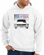 Ford Mustang Hoodie USA 1964 Country White Hoody