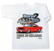 Ford Mustang Kids Shirt - Born 2 Cruz Youth White T-shirt