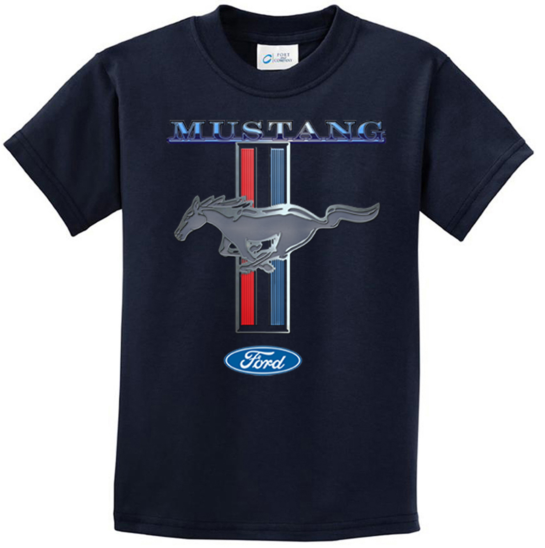 ford mustang kids shirt mustang stripe tee t shirt ford mustang stripe shirts. Black Bedroom Furniture Sets. Home Design Ideas