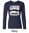 Ford Mustang Ladies Shirt USA 1964 Country Long Sleeve Tee T-Shirt