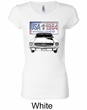 Ford Mustang Ladies Shirt USA 1964 Country Longer Length Tee T-Shirt