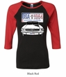 Ford Mustang Ladies Shirt USA 1964 Country Raglan Tee T-Shirt