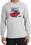 Ford Mustang Long Sleeve Shirt - Chairman Of The Ford Adult Ash Tee
