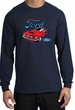Ford Mustang Long Sleeve Shirt - Chairman Of The Ford Adult Navy Tee