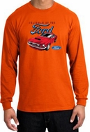 Ford Mustang Long Sleeve Shirt - Chairman Of The Ford Adult Orange Tee