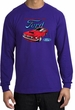 Ford Mustang Long Sleeve Shirt - Chairman Of The Ford Adult Purple Tee