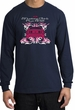 Ford Mustang Long Sleeve Shirt - Girls Run Wild Adult Navy T-Shirt