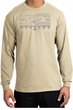 Ford Mustang Long Sleeve T-Shirt Legend Honeycomb Grille Natural Shirt
