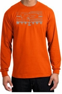 Ford Mustang Long Sleeve T-Shirt Legend Honeycomb Grille Orange Shirt