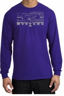Ford Mustang Long Sleeve T-Shirt Legend Honeycomb Grille Purple Shirt