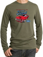 Ford Mustang Long Sleeve Thermal - Chairman Of The Ford Army Green
