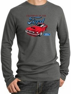 Ford Mustang Long Sleeve Thermal - Chairman Of The Ford Deep Heather