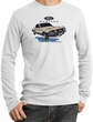 Ford Mustang Long Sleeve Thermal - Horsepower Adult White Shirt