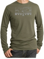 Ford Mustang Long Sleeve Thermal Shirts Legend Honeycomb Grille Shirts