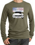 Ford Mustang Long Sleeve Thermals - USA 1964 Country Adult Shirts