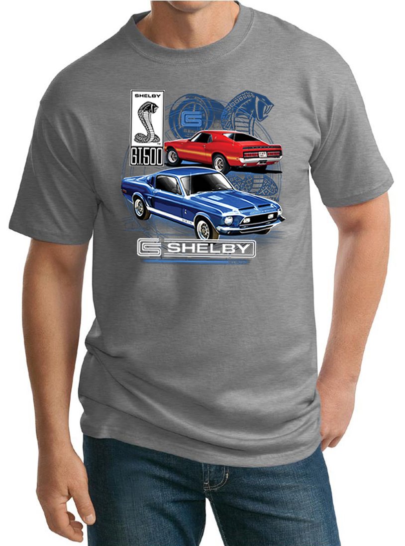 Ford mustang mens shirt gt 500 tall tee t shirt ford for Mens tall t shirts