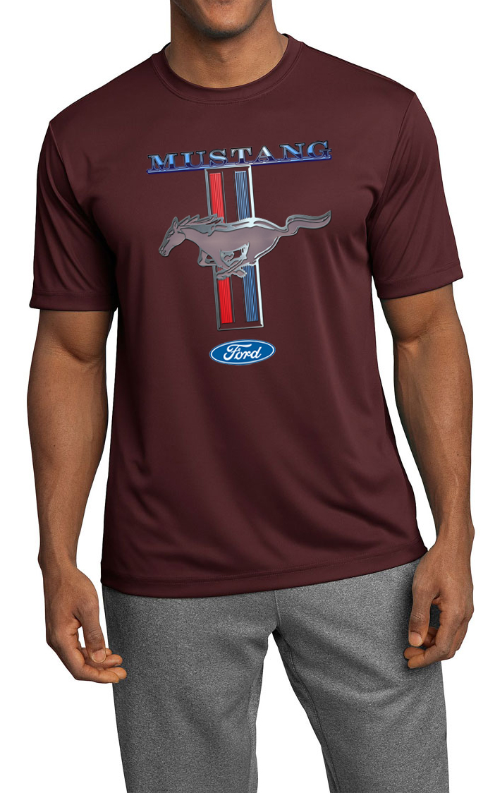 Ford mustang mens shirt mustang stripe moisture wicking for Buy mens t shirts