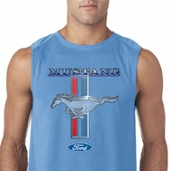 Ford Mustang Mens Shirt Mustang Stripe Sleeveless Tee T-Shirt