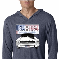 Ford Mustang Mens Shirt USA 1964 Country Lightweight Hoody Tee T-Shirt