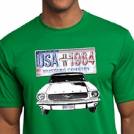 Ford Mustang Mens Shirt USA 1964 Country Moisture Wicking Tee T-Shirt