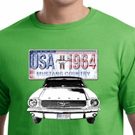 Ford Mustang Mens Shirt USA 1964 Country Organic Tee T-Shirt