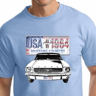 Ford Mustang Mens Shirt USA 1964 Country Tall Tee T-Shirt