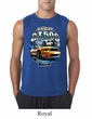 Ford Mustang Mens Shirt Yellow White GT500 Sleeveless Tee T-Shirt