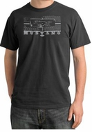 Ford Mustang Pigment Dyed Shirt Legend Honeycomb Grille Dark Smoke Tee