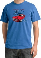 Ford Mustang Pigment Dyed T-Shirt - Chairman Of The Ford Medium Blue