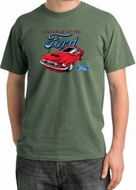 Ford Mustang Pigment Dyed T-Shirt - Chairman Of The Ford Olive Tee