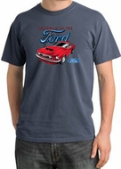 Ford Mustang Pigment Dyed T-Shirt - Chairman Of The Ford Scotland Blue