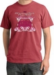 Ford Mustang Pigment Dyed T-Shirt Girls Run Wild Dashing Red Tee Shirt