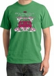 Ford Mustang Pigment Dyed T-Shirt Girls Run Wild Piper Green Tee Shirt