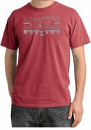 Ford Mustang Pigment Dyed T-Shirt Honeycomb Grille Dashing Red Tee