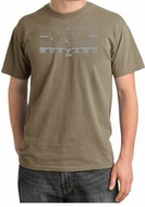 Ford Mustang Pigment Dyed T-Shirt Honeycomb Grille Sandstone Tee