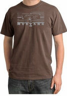 Ford Mustang Pigment Dyed T-Shirt Legend Honeycomb Grille Chesnut Tee