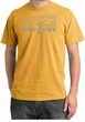 Ford Mustang Pigment Dyed T-Shirt Legend Honeycomb Grille Mustard Tee