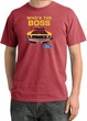 Ford Mustang Pigment Dyed T-Shirt - Who's The Boss 302 Dashing Red Tee