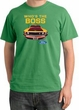 Ford Mustang Pigment Dyed T-Shirt - Who's The Boss 302 Piper Green Tee