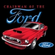 Ford Mustang Raglan Shirt - Chairman Of The Ford Adult White/Forest