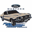 Ford Mustang Raglan Shirt - Horsepower Adult White/Navy T-Shirt