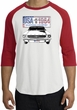 Ford Mustang Raglan Shirt - USA 1964 Country Adult White/Red T-Shirt