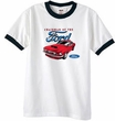 Ford Mustang Ringer T-Shirt - Chairman Of The Ford Adult White/Black