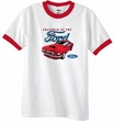Ford Mustang Ringer T-Shirt - Chairman Of The Ford Adult White/Red