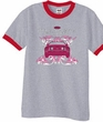 Ford Mustang Ringer T-shirt Girls Run Wild Heather Grey/Red Tee Shirt