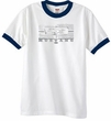 Ford Mustang Ringer T-Shirt Legend Honeycomb Grille White/Navy Shirt