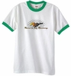 Ford Mustang Ringer T-shirt - Make It My Grill White/Kelly Green Tee